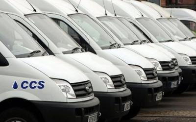 Fleet Of CCS Vans
