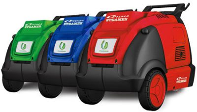 optima steamers dmf in green, blue and red